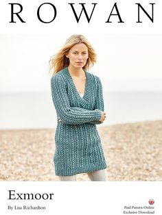 Knit this ladies long line sweater designed exclusively for Knitrowan by Lisa Richardson. Using the stunning yarn Hemp Tweed (wool and hemp), this cabled sweater has a deep v neckline and ribbed edgings. Rowan Knitting, Knitting Wool, Knitting Patterns, Lisa Richardson, Tunic Pattern, How To Start Knitting, Cable Sweater, Long Sweaters, Knit Sweaters