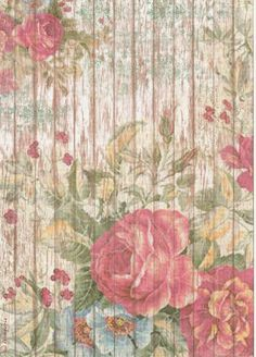 Rice Paper for Decoupage Decopatch Scrapbook Craft Sheet Vintage Painted Fence
