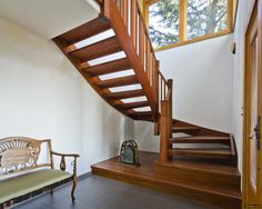 magnificent space saving staircase ideas with brown stained wooden  - Stair Design Ideas Good Inspiration For Your House