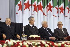 Ben bella avec bouteflika, Chedli ben Jdid et Ali kaffi