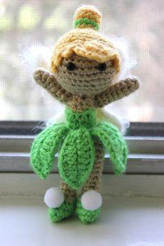 PATTERN Tinkerbell from Peter Pan Disney Doll Crochet Amigurumi