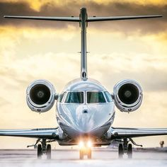Taxing for takeoff in Ottawa. The Gulfstream G280 is the only aircraft in its class capable of flying nonstop from London to New York in world-record time Amazing shot by @photojasinski -- airportag.com