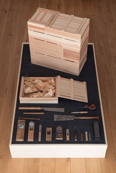 Kanna: An Exploration of Traditional Japanese Carpentry Japanese Carpentry, Japanese Woodworking Tools, Japanese Tools, Woodworking Furniture, Woodworking Projects, Diy Household Tips, Cleaning Tips, Tool Tote, Wooden Tool Boxes