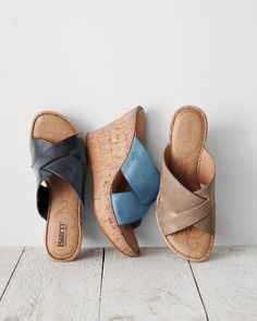 A classic crisscross style is just one of the reasons to love these walkable wedges. Crafted of Italian leather with day-to-night drama, they feature Børn's signature hand-sewn construction, soft arch support, and a leather-lined footbed for comfort.