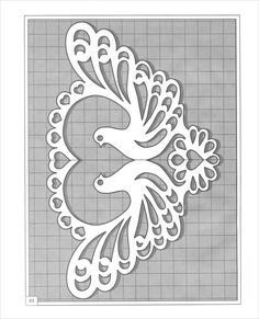 paper cut doves pigeon garland bunting decoration - set of 25 Rose Stencil, Stencil Art, Fiesta Decorations, Heart Template, Letter Stencils, Stencil Patterns, Scroll Saw Patterns, Dot Painting, Paper Cutting