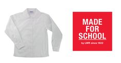 This collar never grow old just like Peter Pan!  Our peter pan classic school shirt comes in both long and short sleeves.  We've got your daughter's school shirts covered no matter what the weather is.