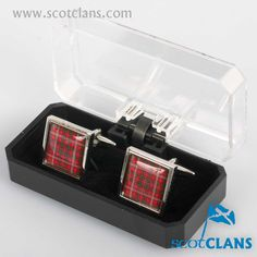 MacKinnon Tartan Cufflinks. Free worldwide shipping available