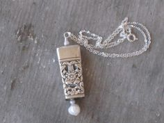 Vintage Upcycled Knife Bell Pendant Necklace www.laughingfrogstudio.etsy.com  $24.00