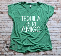 Tequilla es mi Amigo Tequila Patron Shots Gift Party Men Baseball Top