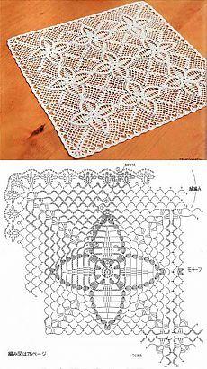 Kira crochet: Crocheted scheme no. Crochet Bedspread Pattern, Crochet Doily Diagram, Crochet Cushions, Crochet Tablecloth, Crochet Stitches Patterns, Granny Square Crochet Pattern, Crochet Chart, Crochet Curtains, Thread Crochet