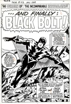 Splash page to the Inhumans story in THOR #148 by Jack Kirby and...
