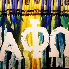 Alpha Phi Omega Crayon Art #epsilon