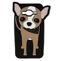 Etui obudowa guma pies piesek czarny do Samsung Galaxy J3 2016  Chihuahua