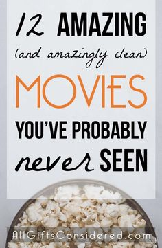 These 12 films are amazing and amazingly clean movies that you have probably never seen. Maybe you've never even heard of them. All the better! You're in for a real treat. These are clean movies… Top Movies To Watch, Netflix Shows To Watch, Good Movies On Netflix, Movie To Watch List, Tv Series To Watch, Kid Movies, Movie List, Amazing Movies To Watch, Good Funny Movies