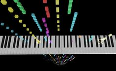 Play MIDI file using javascript. This is a music visualization software with falling notes (notes dropping from the sky). You can use mouse to rotate the notes and view the piano keyboard from other angles. The notes are falling from space into. Midi Piano, Computer Music, Music Visualization, Music Lessons, Notes, Sky, Heaven, Report Cards, Heavens