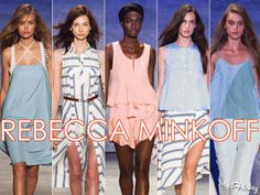 THE BEST OF NYFW: REBECCA MINKOFF'S BREEZY PASTELS & BEACHY STRIPES