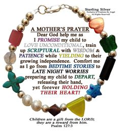 Mother's Prayer Bracelet. $29.99, via Etsy.