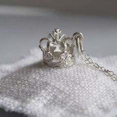 Crown her your queen! Crown necklace by Lily Charmed