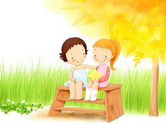 Children's Day Art Illustrations : Childhood Memories and Fun  - Childhood Memories Art illustration : My beloved childhood playmates 2