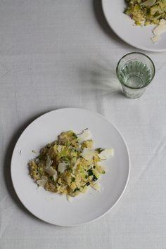 Courgette, leek & parmesan quinoa