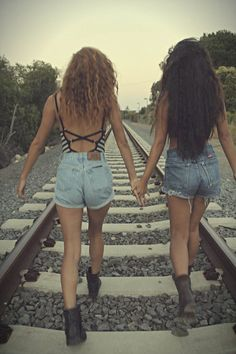 traintrack photoshoot <3 :0 :) ;) with my bf's  (make sure the train tracks are no longer in use LOL)