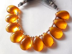 AAA Citrine Quartz Smooth Pear Shape Briolettes in a size of 14x20mm, Almond Beads Superb Finest Quality
