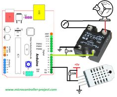 Crydom SSR(Solid state relay) interfacing with arduino and dht22 temperature sensor