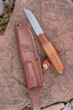 This is a bushcraft knife I made.