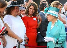 Gina Rinehart, second left, meets the Queen.