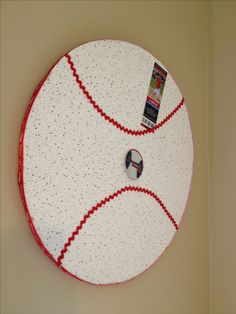 Baseball room (make a DIY cork board!)