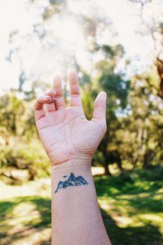 My Wrist Tattoo  #tattoo #wrist #mountains #nature #ink