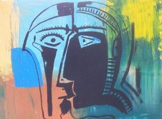 Picasso fake,abstract colourful