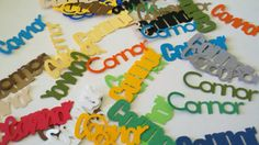 Personalized Name/Word  or Shape Confetti by SLSBCreations on Etsy