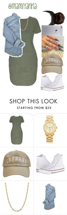 """""""Overtime ~ Bryson Tiller ☁️"""" by mamiyanna ❤ liked on Polyvore featuring Michael Kors, Converse, women's clothing, women, female, woman, misses and juniors"""