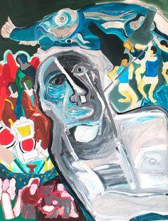 "Saatchi Online Artist Mathieu Bernard-Martin; Painting, ""The Myth of Papi Riri"" #art"