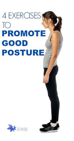 4 Exercises to Promote Good Posture - All Natural Home and Beauty - Fitness Is Life Better Posture Exercises, Posture Correction Exercises, Posture Stretches, Posture Fix, Bad Posture, Improve Posture, Back Exercises, Yoga Fitness, Fitness Tips