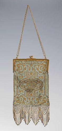Microbeaded antique purse...