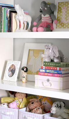 Nursery bookshelves