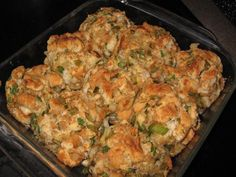 Stuffing balls--put in muffin tins to get crispy outer edges