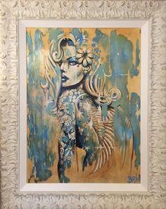 Love Angel by Terry Bradley #Irish #artist #Belfast #original #print #canvas #sexy #strong #woman #women #tattoo #burlesque #model #modelling #terrybradley #NewYork #Paris #art #gallery #buy #collect #postage #free #shipping #RonanKeating #Harley #Davidson #Nokia