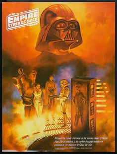 The empire strikes back;  I love the colors.  Great for his closet