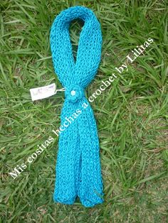 Bufanda tejida en telar