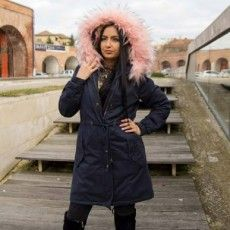 Geaca de Dama Parka Blana Roz Pal Cod: GD09 Raincoat, Jackets, Fashion, Rain Jacket, Down Jackets, Moda, Fashion Styles, Fashion Illustrations