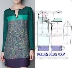 Resultado de imagem para moldes de vestidos de linho