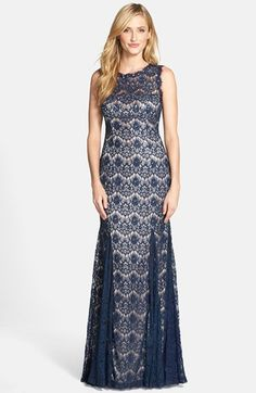 Betsy & Adam Lace Mermaid Gown available at #Nordstrom