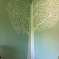 Tree Mural painted by my talented husband :)