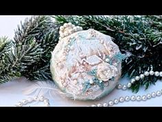 Decoupage bombka z mikrokulkami - tutorial DIY - YouTube