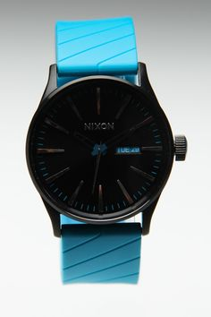 NIXON SENTRY WATCH BLACK/SKY BLUE