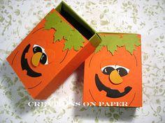Creations on Paper: Halloween Matchbox - Pumpkin