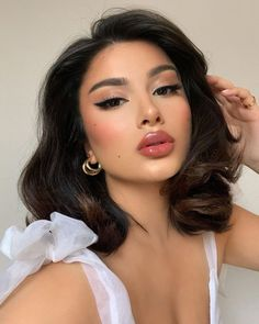 Glam Makeup, Skin Makeup, Beauty Makeup, Hair Beauty, Elegant Makeup, Love My Makeup, Pretty Makeup, Cute Makeup Looks, Aesthetic Hair
